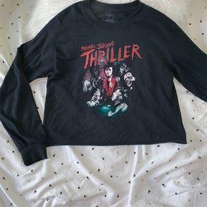 Thriller cropped shirt